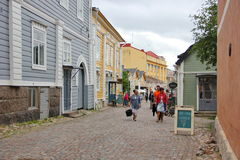 Wooden houses porvoo Stock Photography