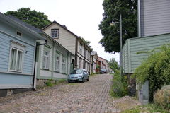 Wooden houses porvoo Royalty Free Stock Images