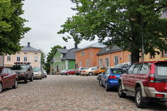 Wooden houses porvoo Stock Images