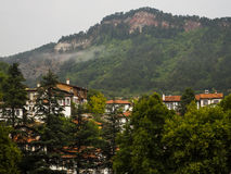 Wooden Houses, Rainy Day Royalty Free Stock Photography