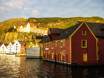 Wooden houses on the sea Royalty Free Stock Photo