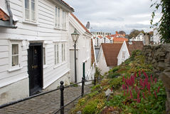 Wooden Houses, Stavanger, Norway royalty free stock photo