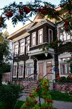 Wooden houses in Tomsk Royalty Free Stock Photo