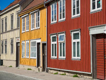 Wooden houses in Trondheim, Norway Royalty Free Stock Photos