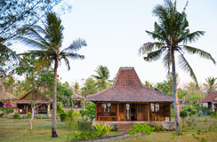Wooden houses in tropical climate Royalty Free Stock Images