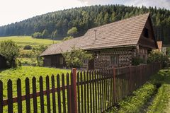 Houses in the Village Cicmany - Slovakia. Stock Photography