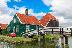 Wooden houses in Zaanse Schans, Netherlands. Royalty Free Stock Photo