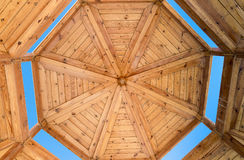 Wooden housing construction - top part Royalty Free Stock Images