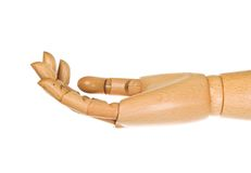 Wooden, human hand. Stock Photography