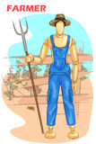 Wooden human mannequin Farmer Royalty Free Stock Photos