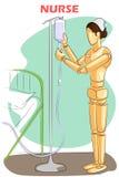 Wooden human mannequin Nurse royalty free illustration