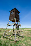 Wooden Hunters High Seat, hunting tower Royalty Free Stock Photos