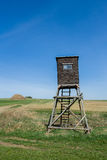 Wooden Hunters High Seat, hunting tower Stock Photo