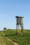 Wooden Hunters High Seat, hunting tower Stock Image