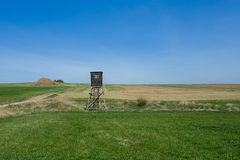 Wooden Hunters High Seat, hunting tower Royalty Free Stock Photography