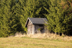 Wooden Hunters Hut Stock Photo