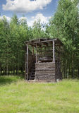 Wooden hunting deer blind Royalty Free Stock Photography
