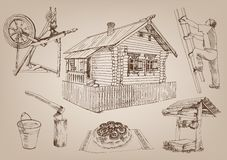 Wooden hut Stock Images
