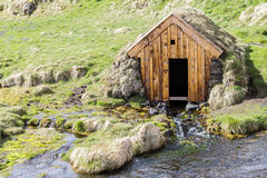 Wooden hut stock photos