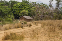 Wooden hut in the countryside Royalty Free Stock Photography