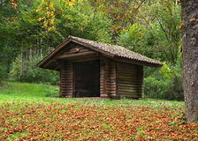 Wooden hut in the forest in the Glatter Taele, Germany Royalty Free Stock Photos
