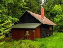 Wooden hut in Jizera Mountains Royalty Free Stock Images