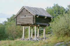 Wooden hut on legs Royalty Free Stock Images