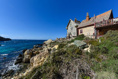 Wooden hut on the seacoast of Malta Royalty Free Stock Image
