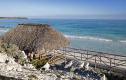 Wooden hut on the seashore. Cayo Largo island, Cuba Stock Images