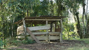 Wooden hut. Small wooden hut of a countryside farm Royalty Free Stock Photos