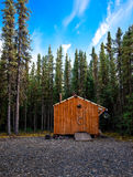 Wooden hut. Somewhere in British Columbia, Canada Royalty Free Stock Images