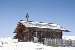 Wooden hut in South Tyrol Stock Photos