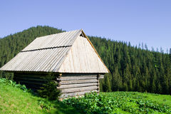 Wooden Hut in the Tatra Mountains Stock Photo