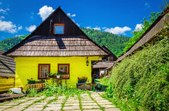 Wooden hut in traditional village, Slovakia Royalty Free Stock Image