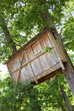 Wooden hut on trees Royalty Free Stock Images