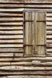 Wooden hut with window Stock Photo
