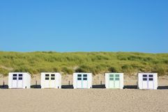 Wooden beach huts Royalty Free Stock Photos