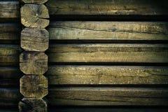 Wooden huts close up Royalty Free Stock Photo