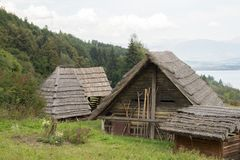 Traditional wooden huts royalty free stock photos