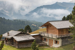 Wooden huts in South Tyrol Stock Photos