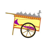 Wooden ice cream cart. This iconic wooden ice cream cart is use by mamang sorbetero or ice cream vendor to sell ice cream on the Philippine roads - ice cream stock illustration