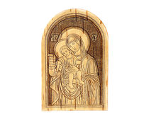 Wooden Icon Stock Photo