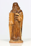 Wooden icon. Carving from olive wood of Mosses and the ten commandments Stock Image