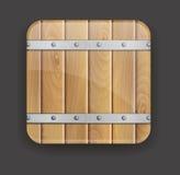 Wooden icon Stock Photos