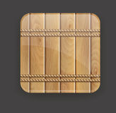 Wooden icon Stock Photos