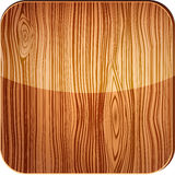 Wooden icon with glare Royalty Free Stock Photo