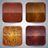 Wooden icon vector set Royalty Free Stock Image