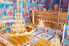 The wooden iconostasis Royalty Free Stock Images