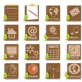 Wooden icons Stock Photos