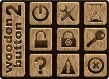 Wooden icons Royalty Free Stock Image